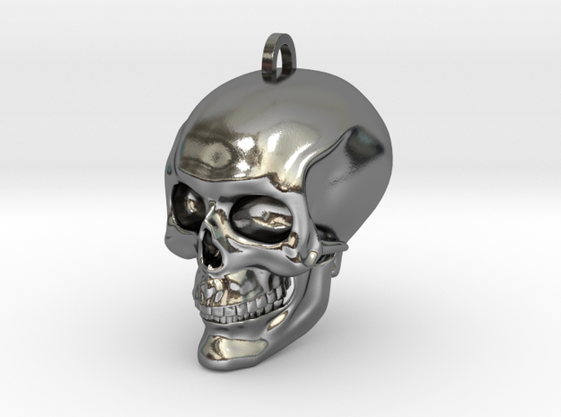 Skull in Polished Silver