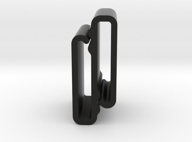 S Belt Clip Single Strap Molle (Medium Duty) in Black Strong & Flexible