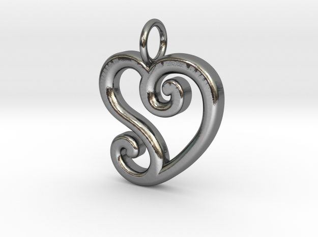 Heart_CS in Polished Silver