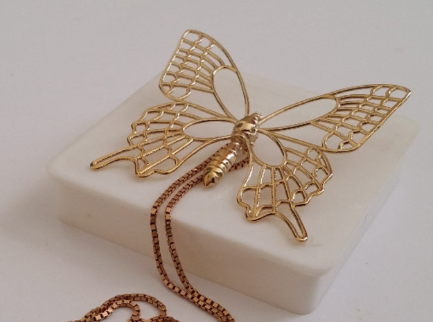 Butterfly in Polished Brass