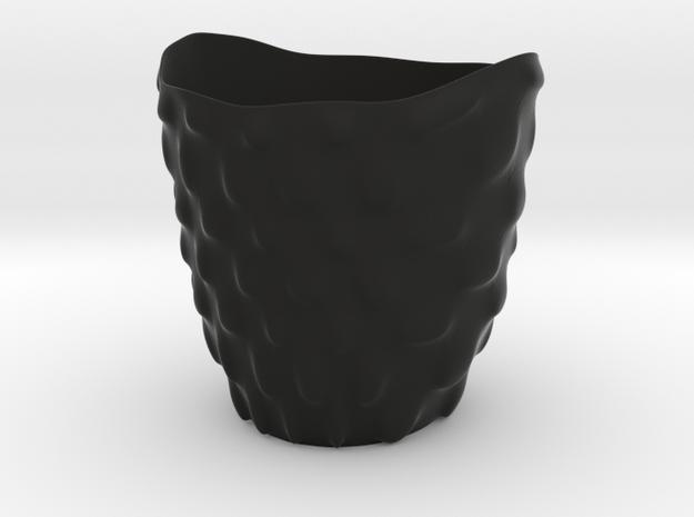 """Vase 'Bubbles' - 8cm / 3.15"""" in Black Strong & Flexible"""
