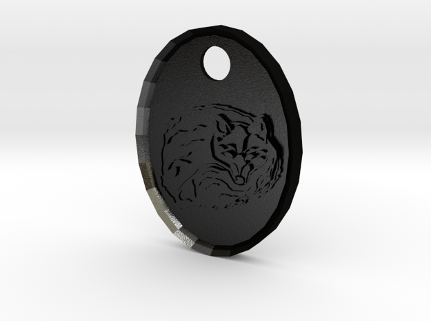 Fox Medallion 3d printed