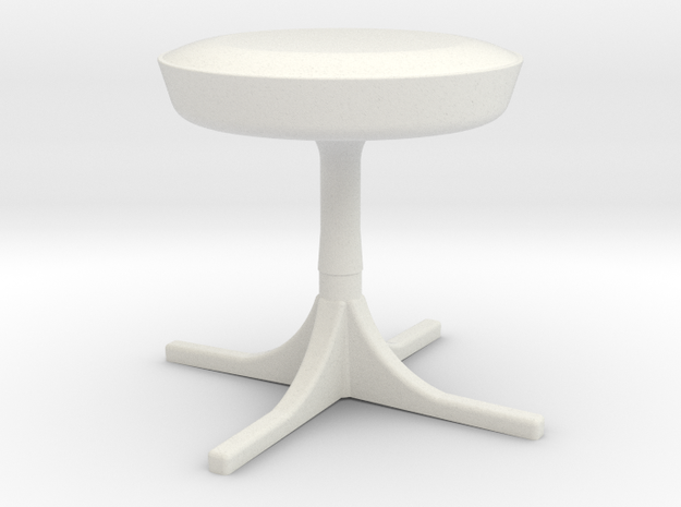 1:24 Nelson Stool in White Strong & Flexible