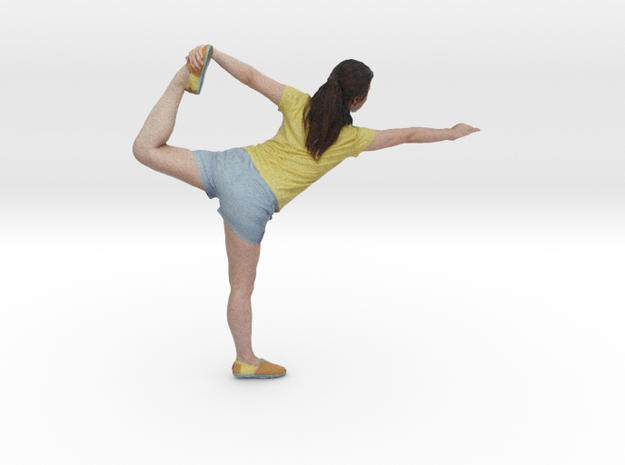 Yoga Pose (Lord of the Dance Pose - Natarajasana) in Full Color Sandstone