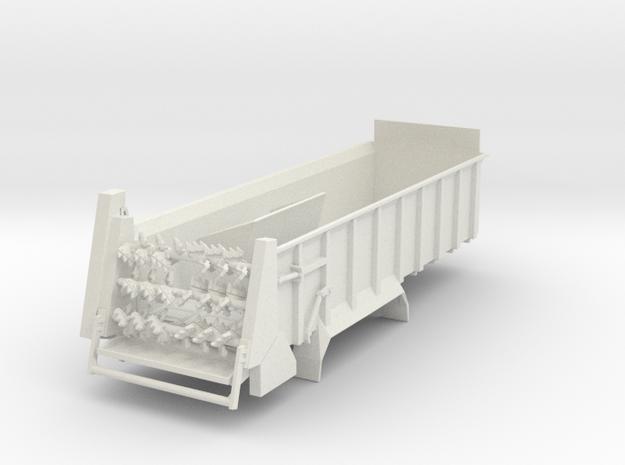 1/64 Manure spreader long frame- Horizontal beater in White Natural Versatile Plastic