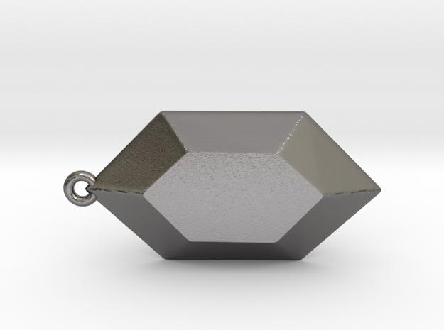 Rupee Pendant in Polished Nickel Steel