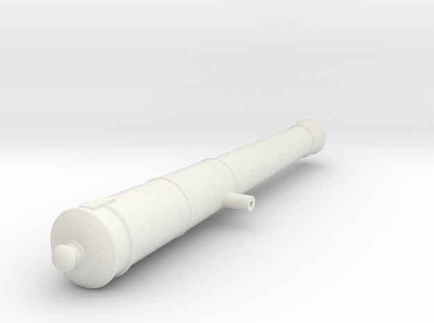 6lb Long Gun in White Natural Versatile Plastic