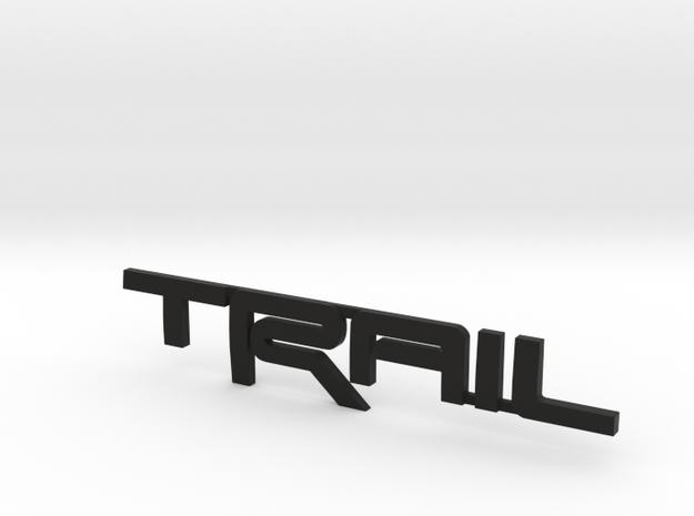 Trail Emblem - Single Print in Black Natural Versatile Plastic