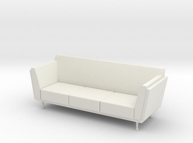 1:24 Goetz Sofa in White Strong & Flexible
