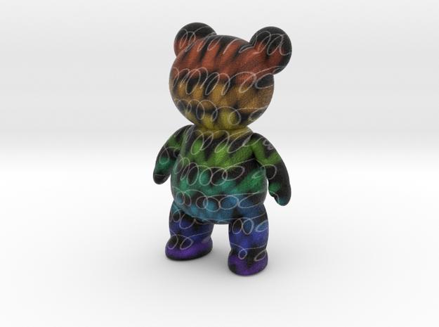 Teddy Bear - Crayon in Full Color Sandstone