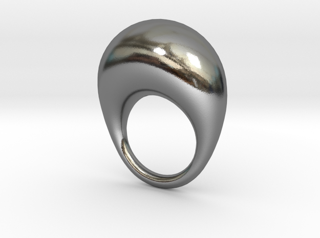 BulgeRingD20mm in Polished Silver