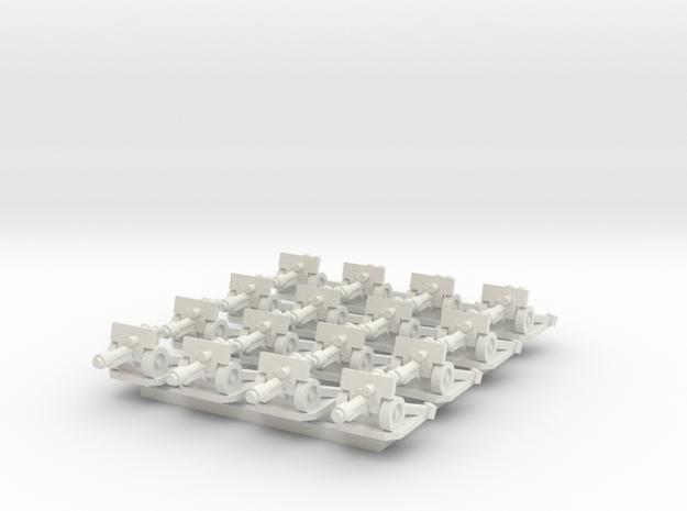 6mm Autocannons (x16) in White Natural Versatile Plastic