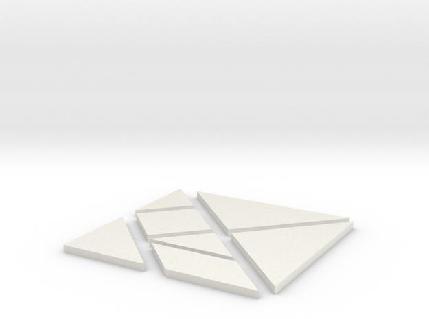Tangram in White Natural Versatile Plastic