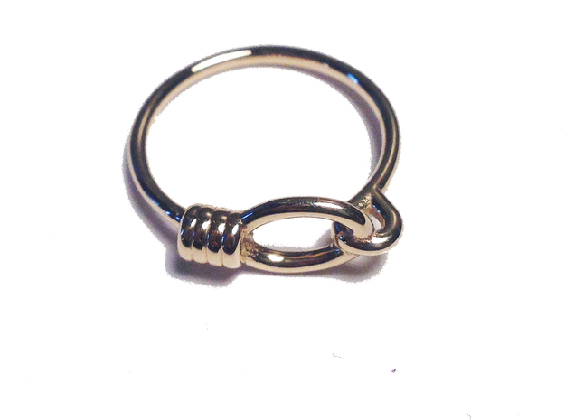 Noose Ring - Sz. 8 in 14K Yellow Gold