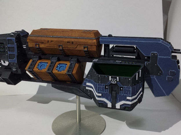"""Somtaaw """"Explorer"""" Command Ship 3d printed The Faal-Corum, painted."""