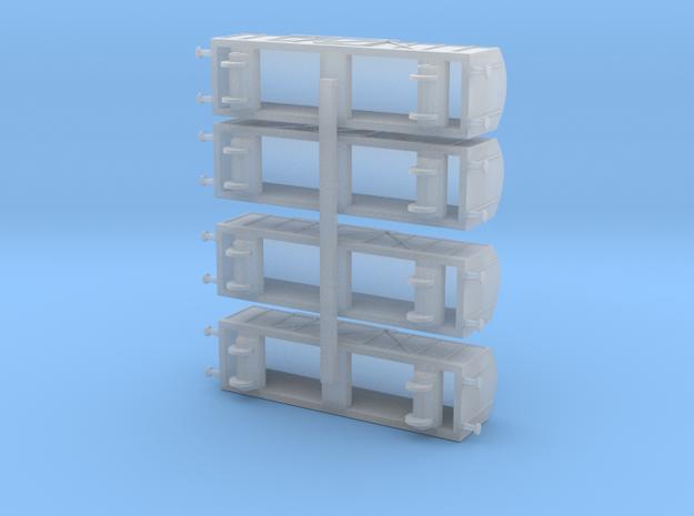 Boxcar / Güterwagen Set of 4  1/285 6mm 3d printed
