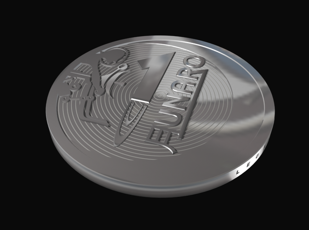 "1 ""Lunaro sterling 2013"" coin 3d printed"