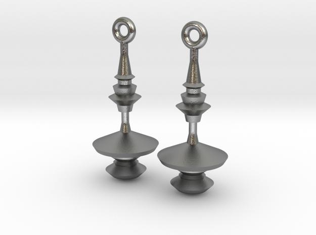 Waveform Earrings 3d printed