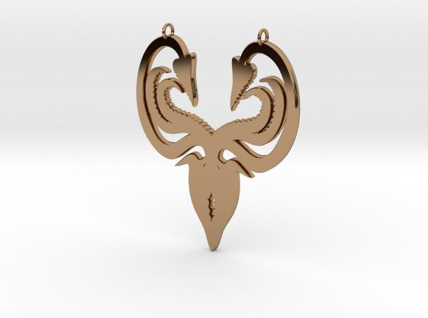 Greyjoy Pendant in Polished Brass