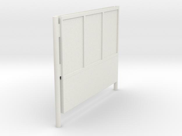 1/22,5 - DSB K74 Reklameskilt (3 reklamer)  in White Natural Versatile Plastic