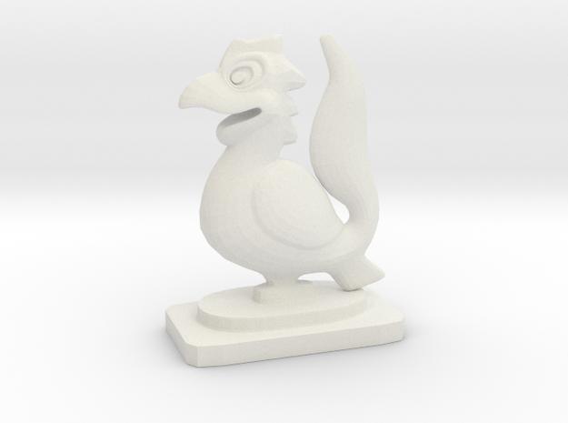 Indian Mini Desktop Statue (Yali) in White Natural Versatile Plastic