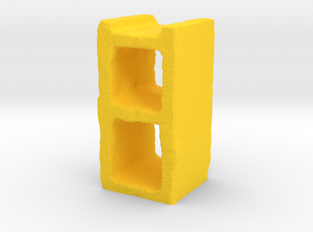 Cinder Block in Yellow Processed Versatile Plastic