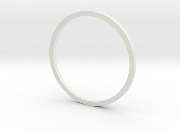 Holocron Window Ring in White Natural Versatile Plastic
