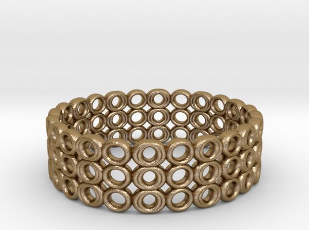 Ring Bracelet in Polished Gold Steel