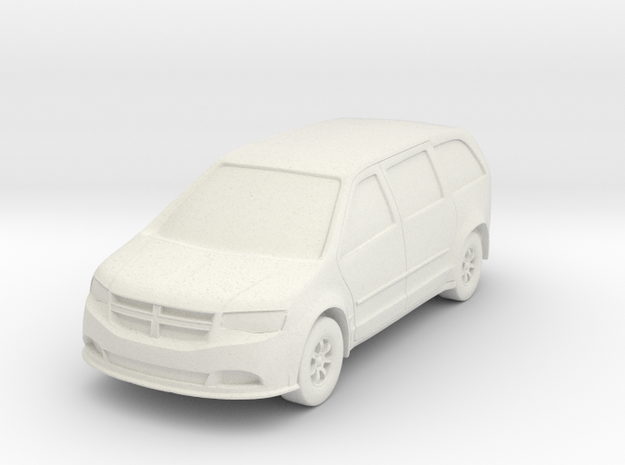 Minivan At N Scale in White Strong & Flexible