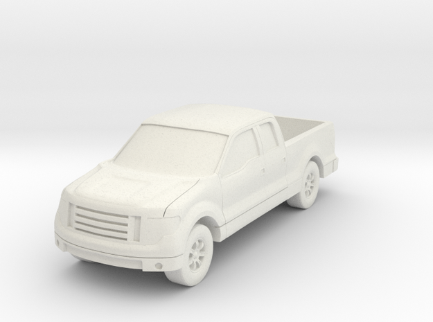 Truck At N Scale in White Natural Versatile Plastic