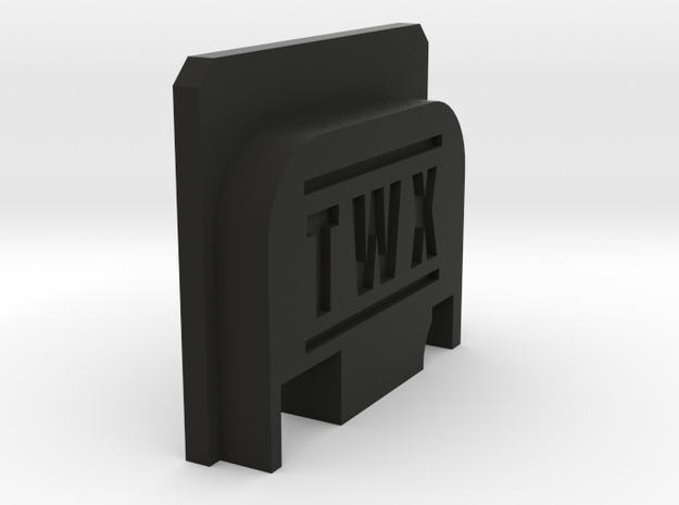 Bbu Backplate TWX in Black Natural Versatile Plastic