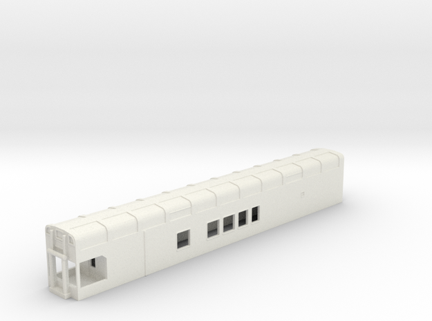N Scale Rocky Mountaineer B Series 6'9 Platform in White Natural Versatile Plastic