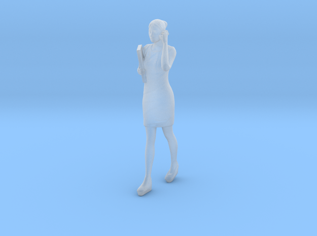 Woman walking with phone 16th in Smooth Fine Detail Plastic