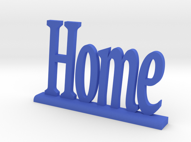 """Letters 'Home' - 7.5cm / 3.00"""" in Blue Strong & Flexible Polished"""