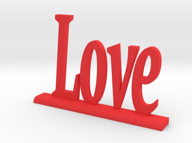 "Letters 'Love' 7.5cm / 3"" in Red Processed Versatile Plastic"