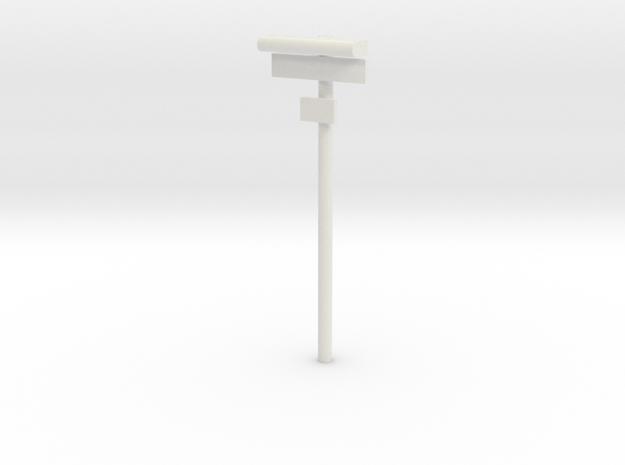 DSB Stations lampe med stationsskilt og lille unde in White Natural Versatile Plastic