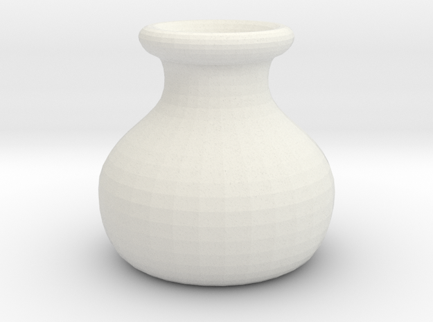 Simple Pot in White Natural Versatile Plastic