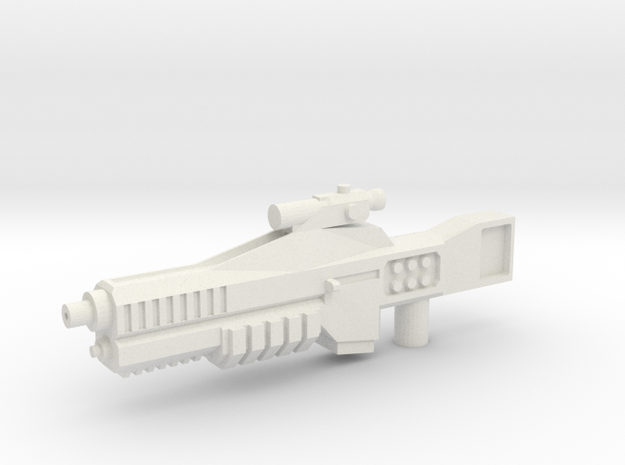 Cybetronian Phaser in White Strong & Flexible