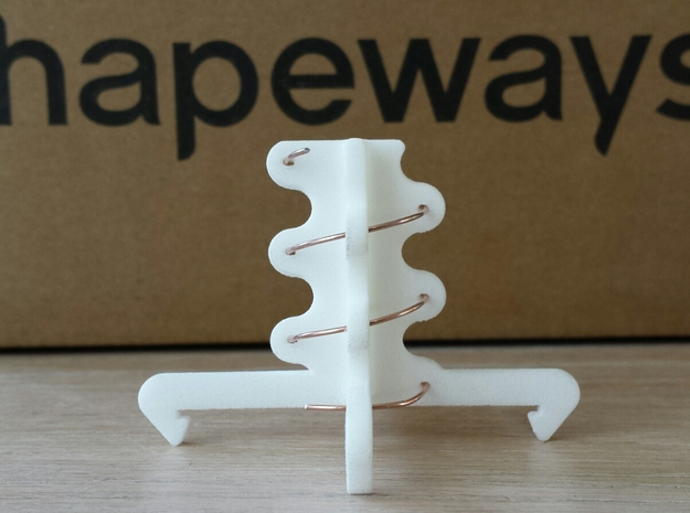 5.8ghz Helical Antenne 3 Turn RHCP 2015 in White Strong & Flexible