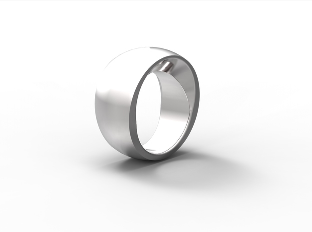 Mystery Ring size 7 in Fine Detail Polished Silver