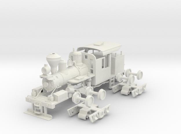 PBR 25 Ton Climax #1694(1:30 Scale) in White Natural Versatile Plastic