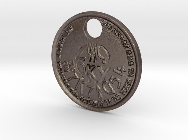 ZWOOKY Style 221 - pendant ZWOOKY  in Polished Bronzed Silver Steel