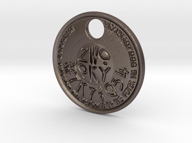 ZWOOKY Style 225 - pendant ZWOOKY in Polished Bronzed Silver Steel