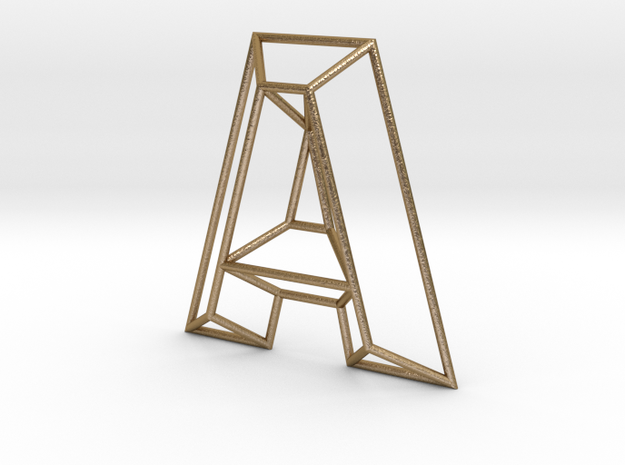 A Typolygon in Polished Gold Steel