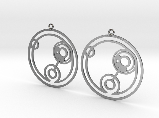 Billie - Earrings - Series 1 in Polished Silver