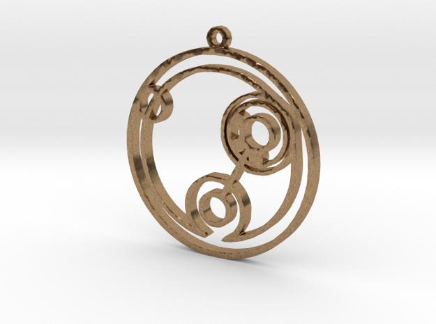Billie - Necklace in Natural Brass