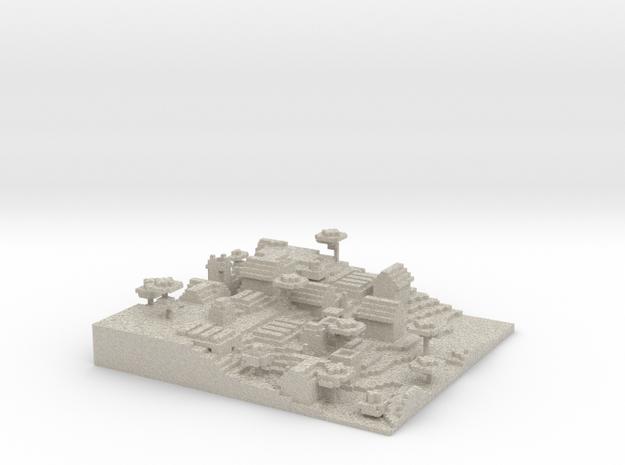Minecraft 1.8 Map Savannah Village season 1  in Sandstone