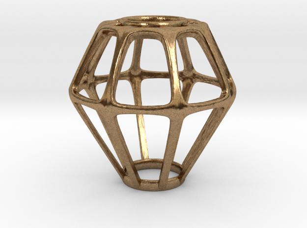 Diamond Pendant in Natural Brass