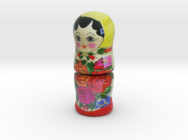 Russian Matryoshka - Piece 2 / 7 in Full Color Sandstone
