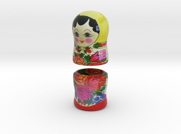 Russian Matryoshka - Piece 7 / 7 in Full Color Sandstone